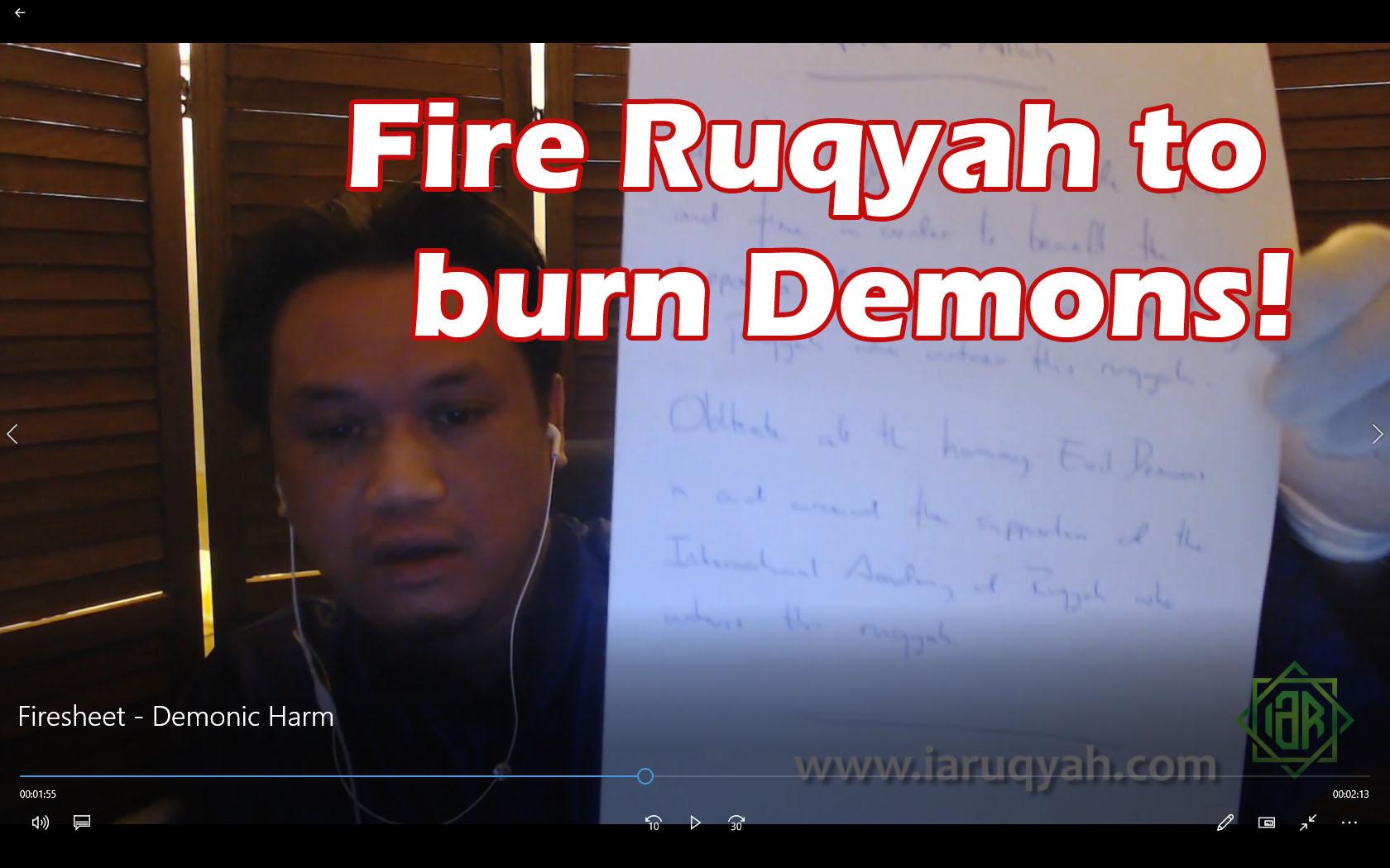 Firesheet to Burn Demons!
